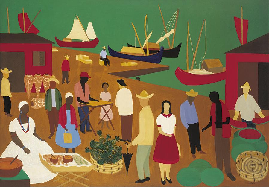 Sem título, Djanira da Mota e Silva - 1959. Foto Pedro Oswaldo Cruz (Acervo Roberto Marinho)