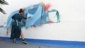 """Mary Dutra - Exposição Real Time Exhibition - Coleção """"Refracted – o não absorvido - Crédito Abstrato Azul - Foto 4 - em baixa"""